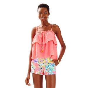 Lilly Pulitzer neon pink top